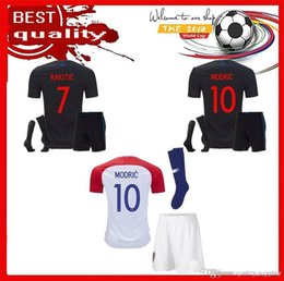 2018 19 Designed for Croatia home adult kit Soccer Jersey MODRIC PERISIC  RAKITIC MANDZUKIC SRNA KOVACIC Red KALINIC Hrvatska Football Shirt 5222c93f0
