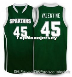 Factory Outlet Michigan State Spartans College  45 Denzel Valentine Basketball  Jerseys Green white Embroidery Stitched Personalized Custom b1ddc2f0d