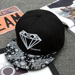 online store 2654e f6278 2018 New Fashion Wine Black Diamond Hat Baseball HipHop Snapback Sport Cap  Cheap Men Women LK Adjustable Wholesale Free Shipping