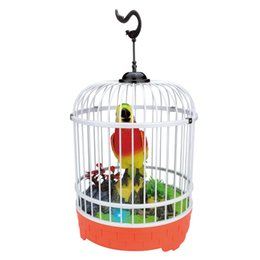 Singing Birds Toys UK - EFHH Kids Creative Pretty Cute Funny Singing Bird Toy Exquisite Sound Voice Control Activate Toy Gift Chirping Singing Bird