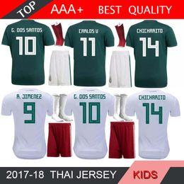 5bbfda3efcb 2018 World Cup Mexico CHICHARITO HMOE AWAY soccer Jersey kids Kits G.DOS  SANTOS O.PERALTA H.LOZANO R.MARQUEZ Soccer Shirts Socks