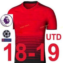 f16cc4e865f 2018 2019 Premier League Man United Soccer Jersey Set 14 Jesse Lingard 10  Marcus Rashford Juan Mata Football Shirt Kits With Pant Manchester