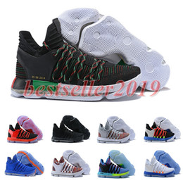 babdb97b6e1d 2018 Correct Version KD 10 Zoom Basketball Shoes Men Trainers Kds 10 X  Elite Anniversary PE Multi-Color Oreo Be True UniversIty MVP Sneakers
