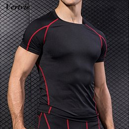 $enCountryForm.capitalKeyWord Canada - Vertvie Men's Compression Sports Tee Tops Athletic Bodybuilding Mens T-shirts Baselayer Running T Shirts Jogging Tee Tops