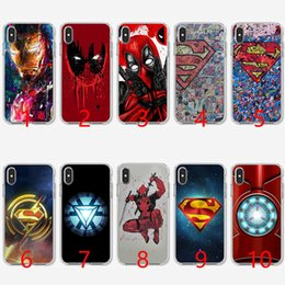 Superman Iphone 5s Case Australia - Super Funny Cool Hero SuperMan Soft Silicone TPU Phone Case for iPhone 5 5S SE 6 6S 7 8 Plus X XR XS Max Cover