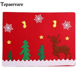 Chinese  Placemats Cloth Mat Table Dinnerware Accessories Mat Plate Bar Christmas manufacturers