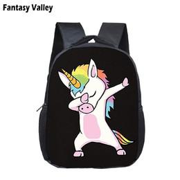 5600954e37 Funny Dabbing Deadpool Backpack For Kid Dab Unicorn Panda Boys Girls  Kindergarten Bag Children Small School Bags Book Bag Diaper