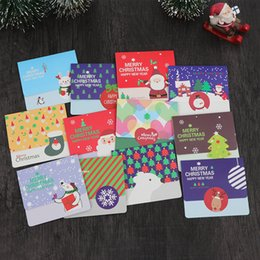 korea creative christmas blessing card traditional holiday message envelope cards thanksgiving day mini strip santa claus cartoon postcard discount - Cheapest Christmas Cards