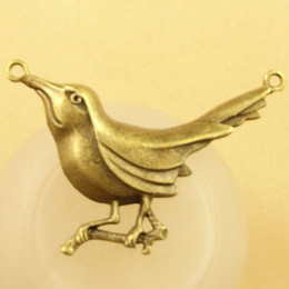 bird connectors NZ - A3564 55*34MM Antique Bronze The bird charm connector pendant beads connections Korean jewelry New Retro, bracelet charms nicklefree