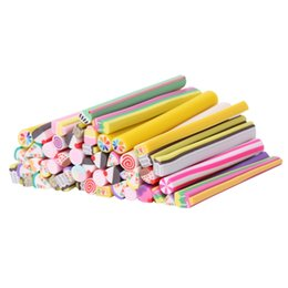 $enCountryForm.capitalKeyWord NZ - 50Pcs 3D Nail Art Manicure Fimo Canes Sticks Gel Rods Stickers Butterfly Bowknot Cake Animal Pattern Soft Polymer Clay New Cute