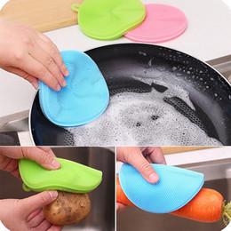Magia Escovas De Limpeza De Silicone Prato Tigela Escova de Panela Panela Fácil de limpar Escovas De Limpeza Escovas De Limpeza Cozinha
