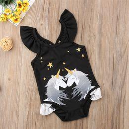 $enCountryForm.capitalKeyWord Canada - Baby Girl Swimwear Unicorn Swiming Suits one piece princess bathing suit Bikini Beachwear Bodysuit with ruffles LC810