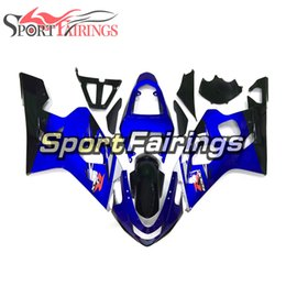 Sportbike Body Canada - Complete Fairings For Suzuki GSXR600 GSX-R750 K4 2004 2005 Sportbike ABS Plastics Motorcycle Fairing Kit Body Kit Blue Black New Arrive