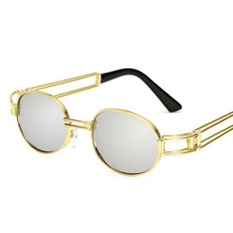e1edcea5ecd Discount hip hop frames - Retro Small Round Sunglasses Men Male Vintage  Steampunk Sunglass Women Hip