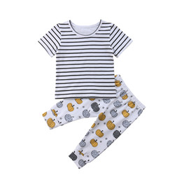 Chinese  Thanksgiving Newborn Clothes Set Girls Cotton Clothes Short Sleeve T-shirt Tops Pants Toddler Clothing Set Cute Girls Outfits manufacturers