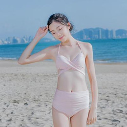 3d265bec25 2018 new Bikinis gather sexy little breasts thin swimwear ladies beach big  breasts hot spring swimwear