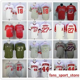 5b4f307ed 2019 Mens Angels 19 Andrelton Simmons 27 Mike Trout 44 Reggie Jackson  baseball Jerseys color red white gray green jersey top quality