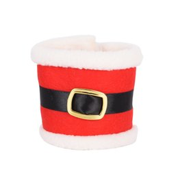 Christmas Napkin Rings Wholesale NZ - 1pcs Christmas Decor Napkin Ring Tableware Dinner Decorations Santa Claus Cover For Christmas Xmas Hotel Table Decoration