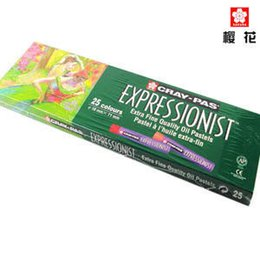 $enCountryForm.capitalKeyWord NZ - 2017 Rushed New Sakura Oil Pastels Set For Artists Round Shape Pastel Crayon Sticks Available With 25 Color School Stationery