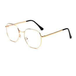 Discount vintage metal glasses frames - Women Myopic Glasses Frame Cat Eye Eyeglasses Vintage Half Frame Metal Eyewear Frames Prescription Optical Myopia Comput