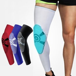 Leg guards for basketbaLL online shopping - 1 Pair Elastic Sports Leg Knee Support Protector Knee Pads Protector Safety Sleeve Patella Guard Kneepad For Basketball Volleyball