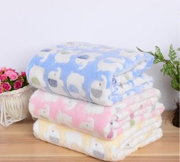 Pet Towels NZ - Elephant Rabbit Printed Small Pet Dog Cat Blankets Towel Bed Mat Absorbent Cleaning Drying Bath Towel Pet Products 3 Sizes Free Shipping