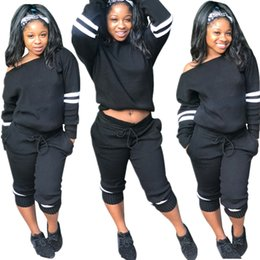 $enCountryForm.capitalKeyWord NZ - Drawstring Clothing Autumn New Arrive Sexy Track Suit Long Sleeve Casual Matching Suit Ladies 2 Pieces Tracksuit Set Black Color S-XL