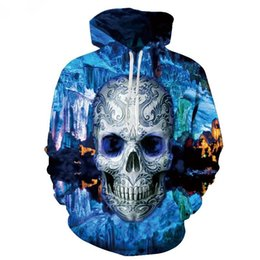 China 2017 Men Casual Hoodies Fitness Brand Clothing skull Tracksuits Men Bodybuilding Sweatshirt Muscle Hooded Jackets cheap skull tracksuits suppliers