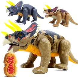 Discount toy dinosaurs walk - Children Story Machine Electric Remote Control Dinosaur Animals Walking Model Educational Toys Ready-to-go Animal Electr