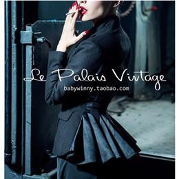 36fad5d905b 40- le palais vintage women autumn black wool peplum chaqueta smoking mujer  coat pinup jacket plus size 4xl manteau femme blazer