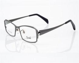 $enCountryForm.capitalKeyWord NZ - EYELOOK High Quality Pure Titanium Business Design Men Full Rim Black Flat Mirror Optical Reading Eyewear Eyeglasses YS8163