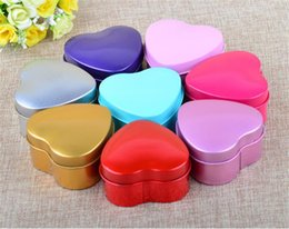 Food tin boxes online shopping - Hot Home Garden MOQ color Heart Metal Coins Candy Case Makeup Jewelry Tin Box Candy Organizer