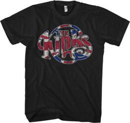 Venta al por mayor de THE KINKS Flag Logo CAMISETA A estrenar Oficial T Shirt Mens 2018 moda Marca T-shirt O-cuello 100% algodón