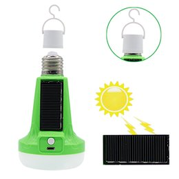 Wholesale Edison2011 W W V Solar Powered LED Flashlight Tent Light Bulb Rechargeable Emergency Lamp for Outdoor Indoor Multifunctional