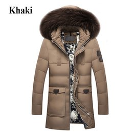 Wholesale 2018 New Winter Down Jacket Raccoon Fur Hood Men s High Quality Clothing Casual Jackets Thickening Parkas Male Big Coat