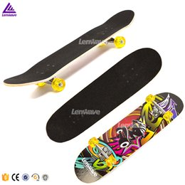 Wholesale Lenwave Maple Wood Material Chinese Style Speed Drift Skateboard Brand Skate Deck Long board Cool Skateboards Double Rocker