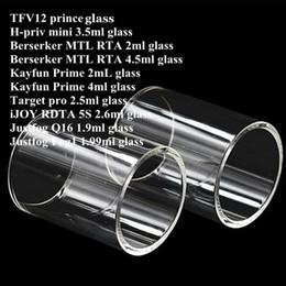 Kayfun rta atomizer online shopping - TF12 prince H priv min Berserker MTL RTA Kayfun Prime Target pro iJOY RDTA S Justfog Q16 Fog1 Tank Atomizer Pyrex Replacement Glass Tube