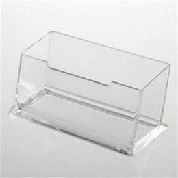 Shop business holder display uk business holder display free business id clear transparent card holder stand acrylic desktop stand display desktop office shelf storage best price reheart Images