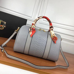 Cheap bag faCtory online shopping - Cheap Leather totes Women popular pillow bags Snake grain cm wide soft shell touch Factory direct sale just snath on limited amount