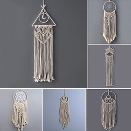 Best Wedding Pendant Australia - Handmade Lace Dreamcatcher Wind Chimes India Weaving Tassel Pendant Wedding Decorations Wall Art Hanging Drops Best Gift