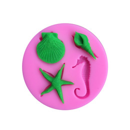 $enCountryForm.capitalKeyWord UK - 3D Silicone Baking Tools Seaworld Seashell Conch shell starfish Cake Mold Chocolate Fondant tools