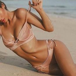 940eb7fa77d2e Hot women s tHong bikinis online shopping - New Bikini Pink Low Waist Swimsuit  Thong Swimwear