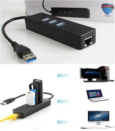 Ethernet Macbook Australia - high quality 3 ports USB3.0 10 100 1000Mbps Gigabit Ethernet RJ45 Network Lan Card External Network Card for Macbook Linux Android