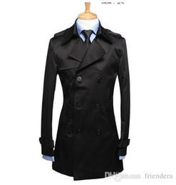 7b450d8f7f0 Black mens trench coats belt slim fashion casual casaco masculino short trench  coat men overcoat jaqueta masculina plus size