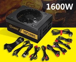 Vente en gros 6 GPU Miner 1600W ETH Ethereum Miner Alimentation Pour Bitcoin Miners supporte 6 cartes graphiques 6 Interface SATA Mining Power 80 PLUS GOLD LLFA