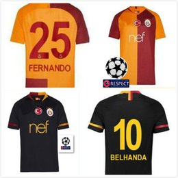 free ship 2018 2019 Galatasaray soccer jerseys home away GOMIS Champions  League 2018 2019 CIGERCI BELHANDA FERNANDO FEGHOULI FOOTBALL SHIRTS dfdf9b672