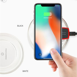 2018 Venta caliente de Crystal Cargador inalámbrico para iPhone X 8 Plus Pad de carga Mini para Samsung S6 S7 Edge Plus S8 en venta