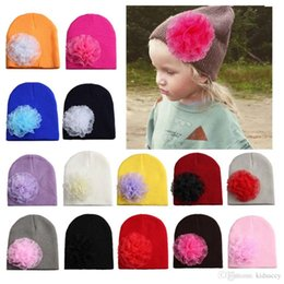 $enCountryForm.capitalKeyWord NZ - Christmas Infant Baby Girls Knitted Hat Lace Flower Headwear Child Toddler Kids Warm Beanies Hats Children Hats 14 Colors 14227