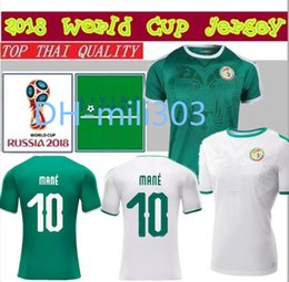 38ab1ca0095 Top Thai quality 18 19 world cup Senegal Soccer Jersey 2018 2019 Senegal  national MANE football team soccer shirt Football shirt uniforms