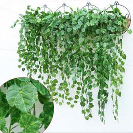 Ivy plastIc online shopping - Artificial Ivy Flower Garland Vine Fake Scindapsus Hanging Plants For Home Garden Decor